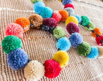 Hmong doughnut pompoms Hair band / (Free Shipping With Another Items) /Wholesale