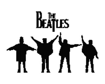 Cross Stitch Pattern - The Beatles 2  - PDF - Instant Digital Download