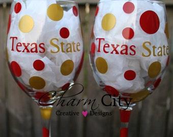 Texas State Wine Glass 20 oz