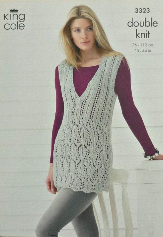 Ladies Tunic Knitting Patterns : Womens Knitting Pattern K3323 Ladies by KnittingPatterns4U on Etsy