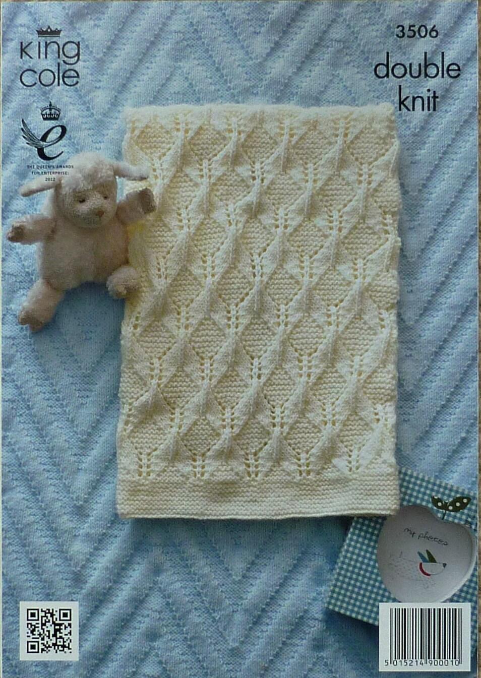 Baby Blanket Pattern K3506 Babies Pram & Cot Blankets Knitting