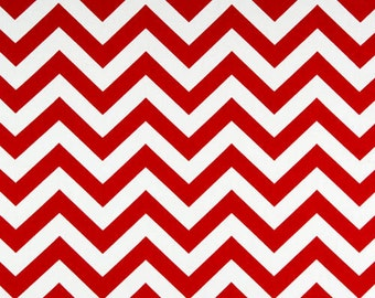 Red and White Curtains Zig Zag  Rod Rocket  63 72 84 90 96 108 120 Long x 25 or 50 Wide