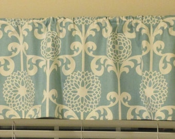 "Waverly Fun Floret Blue Curtain Valance 50"" x 16"""