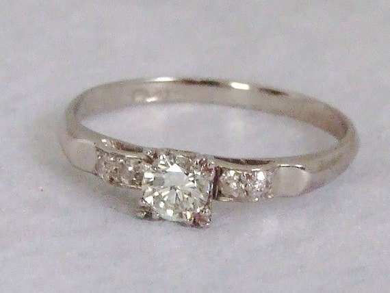 1920s platinum engagement ring appraisal 1624usd