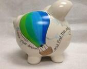Personalized Piggy Bank Hot Air Balloon