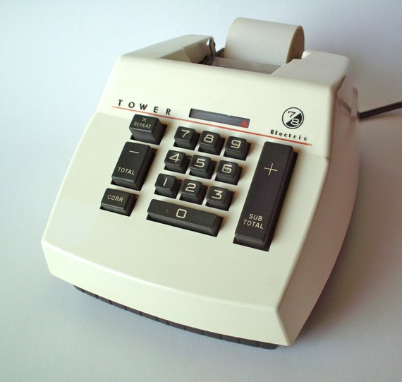 Vintage Tower 7 8 Electric Adding Machine