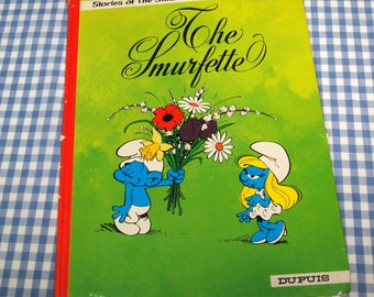 stories of the smurfs - the smurfette, unique vintage 1978 children's book