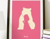 Brave Minimalist Poster - Poster A3 Print