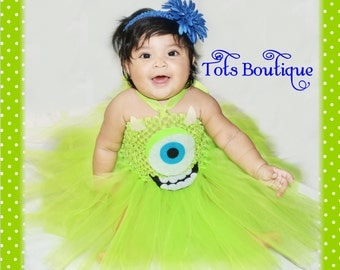 Green Monster Inspired tutu dress- Infant