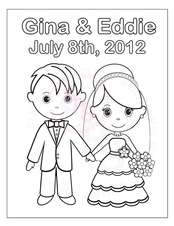 Personalized Printable Bride Groom Wedding Party Favor