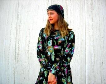 Vintage dress gypsy dress senorita dress