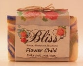 Flower Child Make suds, not war.  Bliss Soaps, Shampoos, & Lotions Patchouli vegan essential