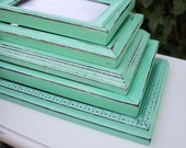 Mint Green Picture Frame Shabby Chic Distressed Made to Order