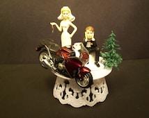 Motorcycle HONDA VFR Street Bike or your Bike Bride and Groom Funny Bike Wedding Cake Topper