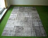Patchwork rug Grey 46