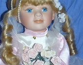 Beautiful PORCELAIN BALLERINA Doll With Toe Shoes