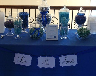 Love Is Sweet Banner - Perfect for your Candy Buffet