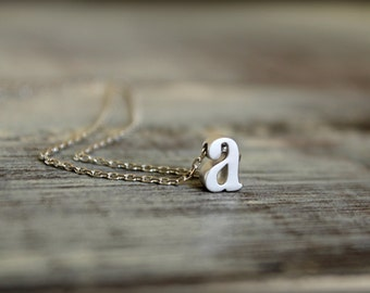 Lowercase Initial Necklace, Available in Silver, Gold, or Rose Gold
