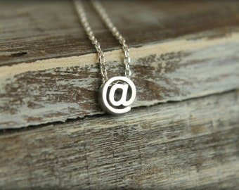 At Symbol (@ sign) Necklace, Available in Silver and Gold