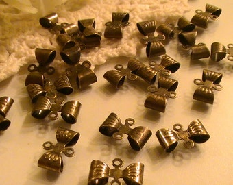 20pcs Antique Bronze Schleife Connectors 12x8mm Bow Connectors Findings Commercial Jewelry Supplies Findings 97th Street Supply