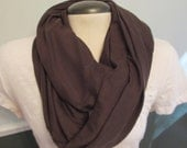 Infinity Scarf - solid chocolate brown