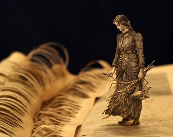 """Perhaps I shall find out somebody's secret - 16""""x12"""" photograph of an altered book sculpture"""