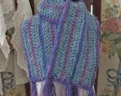 SALE  OOAK Soft and Cozy Crocheted Ladies Scarf, Handmade Womens Winter Scarf, ECS,