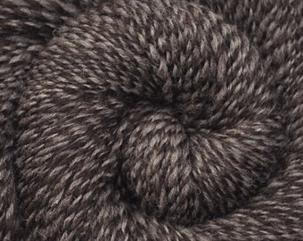 Handspun yarn - Natural color Shetland wool, Worsted weight, 330 yards - Light & Dark Shetland