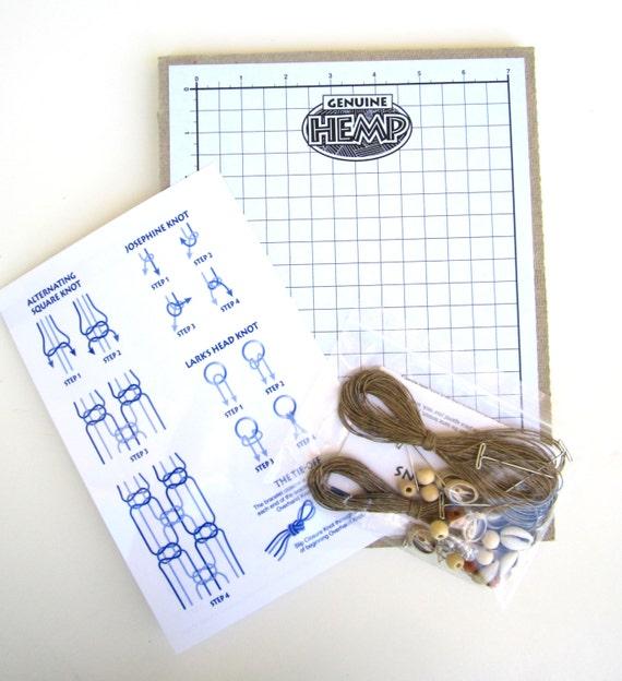 Hemp Knotting Board and Jewelry Making Kit