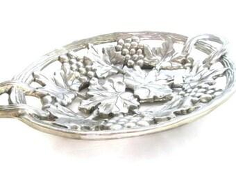 Grapevine Metal Platter Thanksgiving Tray Table Decor