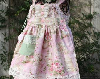 Rosy's tea party,shabby chic,vintage,birthday dress for birthdays, easter,weddings,flower girls,photoprop,portrait