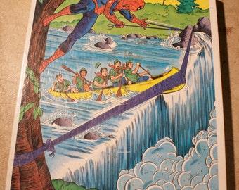 vintage spiderman Puzzle