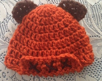 Ewok Style Hat for Newborn Baby Infant Child or Doll