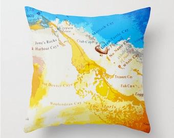 Green Turtle Cay Bahamas Throw Pillow Island Landmarks Home Decor Home Decor Product Sizes and Pricing via Dropdown Menu