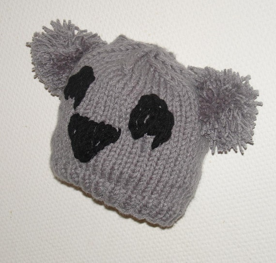 KOALA Hat Beaine Chunky Knit Winter Accessories Animals by Ifonka