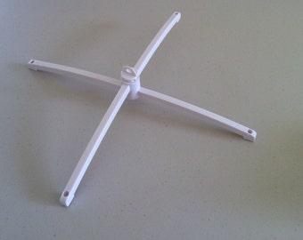 DIY white mobile hanger - nursery mobile hanger - crib hanger
