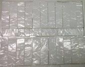 BORDERS KRINKLE Milk Glass White Glass Mosaic Tile i-6