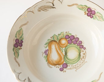 Vintage dinner plate, deep plate, soup plate porcelain, soup bowl housewarming, tableware fruits vegetables decorations