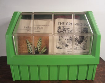 "Vintage ""The Greenhouse"" Cardfile"