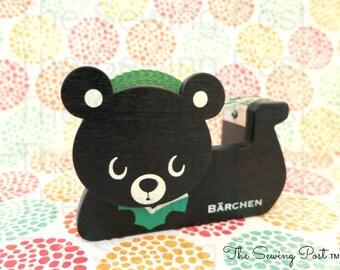Wood Tape Dispenser: Black Bear