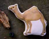 Camel Pillow Toy. Hand-painted Soft Sculpture by AlyParrott on Etsy. Made to Order.