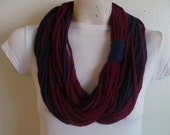Crocheted Chain Rope Scarf,  Infinity Rope Chain Scarf