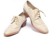 ivory oxford brogues shoes cuban heel - FREE WORLDWIDE SHIPPING