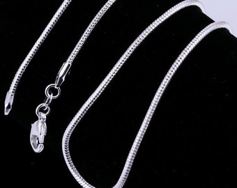 "925 sterling silver 24"" 2mm snake chain necklace"