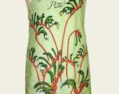 SALE * Metro Retro Tea Towel 'Kangaroo Paw Western Australia' Vintage Tea Towel HANDMADE Apron - Birthday Gift Idea