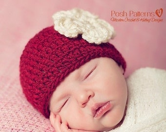 Crochet PATTERN - Easy DK Beanie Crochet Hat Pattern - Crochet Patterns for Women - Includes Baby, Toddler, Child, & Adult Sizes - PDF 280