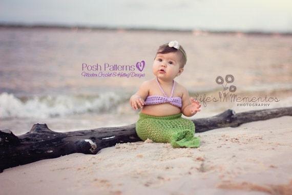 Crochet PATTERNS - Crochet Mermaid Tail & Top Pattern - Mermaid Blanket Pattern - Crochet Pattern Baby - 3 Sizes - Photo Prop - PDF 193