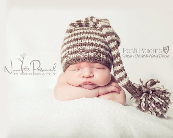 Knitting PATTERNS - Elf Hat Knitting Pattern - Knit Stocking Hat - Baby, Toddler, Kids, Adult Sizes - Make 2 Ways - Photo Prop - PDF 211