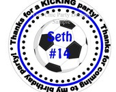 Soccer Party Favor Tags, sport party tags, party favor tags, soccer, soccer birthday tags, soccer stickers, soccer favor tags, set of 12