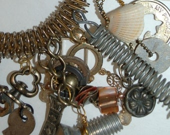 Industrial Found Object Bracelet Assemblage Jewelry